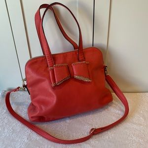 Betsey Johnson Coral Bag with Bow
